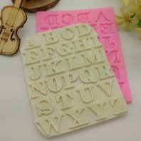 Capital letters silicone mold for fondant DIY cake decoration L381