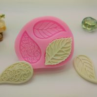 Leaves with lines silicone mold for fondant DIY cake decoration L384