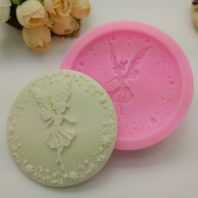 Flower fairy with wreath silicone mold for fondant chocolate DIY cake decoration L418