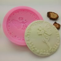 Flower fairy with wreath silicone mold for fondant chocolate DIY cake decoration L419