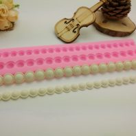 Pearl chain lace silicone mold for fondant chocolate DIY cake decoration L421