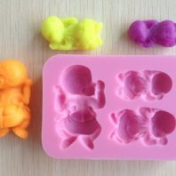 3 Little New Born Babies silicone mold for fondant or chocolate or cake decoration L043