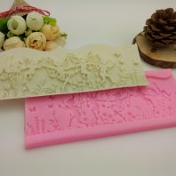 Flower fairy silicone mold for fondant chocolate DIY cake decoration L436