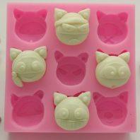 Lovely animal bear silicone mold for fondant chocolate DIY cake decoration L448