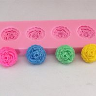 4 Roses silicone mold for fondant or chocolate or cake decoration L046