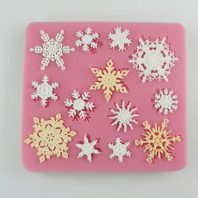 Multi Snow Flowers silicone mold for fondant or chocolate or cake decoration L065