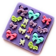 Multi Bow Tie silicone mold for fondant or chocolate or cake decoration L066