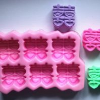 Chinese Double Happiness Characters Silicone Mold For hand made soap L072