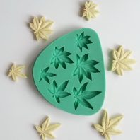 Multi Maple Leaves silicone mold for fondant or chocolate or cake decoration L087