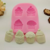 3 gavities icecream silicone mold for fondant candy DIY cake decoration L619