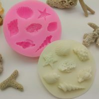 Marine life shell conch silicone mold for fondant candy DIY cake decoration L624