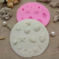 Marine life shell starfish conch silicone mold for fondant candy DIY cake decoration L641