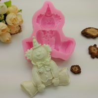 Clown silicone mold for fondant candy DIY cake decoration L642