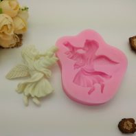 Angel horns silicone mold for fondant candy DIY cake decoration L643