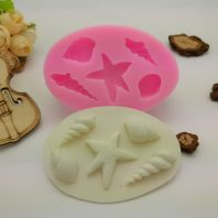 Marine life shell starfish conch silicone mold for fondant candy DIY cake decoration L651