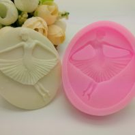 Dancing girl silicone mold for fondant candy DIY cake decoration L659