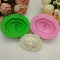Teapot wreath silicone mold for fondant candy DIY cake decoration L664