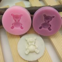 A little bear silicone mold for fondant candy DIY cake decoration L667