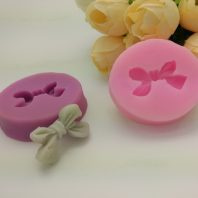 Bowknot embossed silicone mold for fondant candy DIY cake decoration L669
