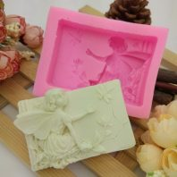 Angel flowers silicone mold for hand made soap and crafts L675