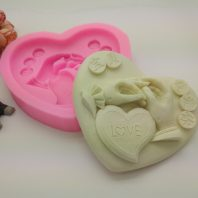 Love heart baby silicone mold for fondant candy DIY cake decoration L681
