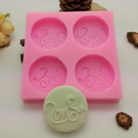 Monkey peach silicone mold for hand made soap and crafts L683