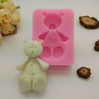 Bear embossed silicone mold for fondant candy DIY cake decoration L685