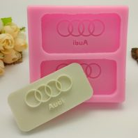 Audi logo silicone mold for fondant candy DIY cake decoration L686