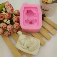 Sleeping baby silicone mold for hand made soap and crafts L690