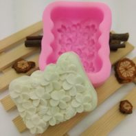 Flowers soap mould silicone mold for hand made soap and crafts L694
