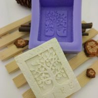 Natural tree silicone mold for hand made soap and crafts L695