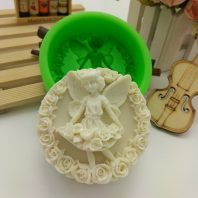 Angel Garland silicone mold for hand made soap and crafts L696