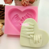 Heart finger hook silicone mold for hand made soap and crafts L700