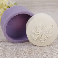 Round soap mould silicone mold for hand made soap and crafts L753