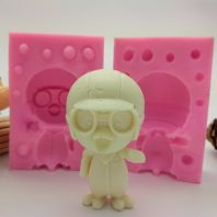Cartoon boy silicone mold for hand made soap and crafts L763