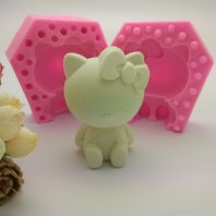 Hello kitty silicone mold for hand made soap and crafts L765