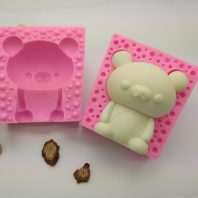 Little bear silicone mold for hand made soap and crafts L768