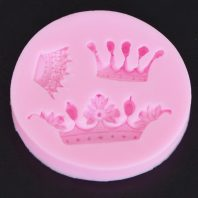 3 cavity crown silicone mold for fondant candy chocolate DIY cake LS10019