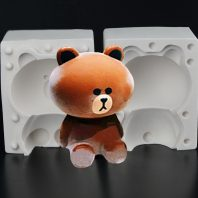 Cute sitting bear silicone mold for fondant candy chocolate DIY cake LS10043
