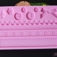 Button border silicone mold for fondant candy chocolate DIY cake LS10110