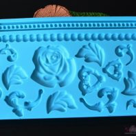 Floral border flowers silicone mold for fondant candy chocolate DIY cake LS10111