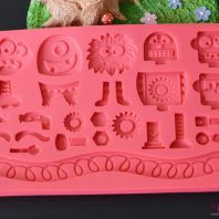Toys spare part border silicone mold for fondant candy chocolate DIY cake LS10114