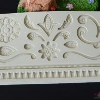 Scroll border silicone mold for fondant candy chocolate DIY cake LS10115