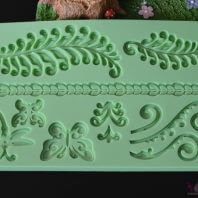 Scroll leaves border silicone mold for fondant candy chocolate DIY cake LS10116