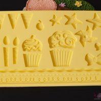 Ice cream star border silicone mold for fondant candy chocolate DIY cake LS10118