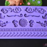 Multi scroll silicone mold for fondant candy chocolate DIY cake LS10119