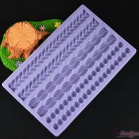 Multi borders silicone mold for fondant candy chocolate DIY cake LS10120