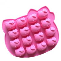 16 Cavities Cartoon Cats Silicone Mould Tray LMH001