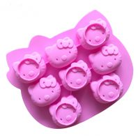 8 Cavities Cartoon Cats Silicone Mould Tray LMH002