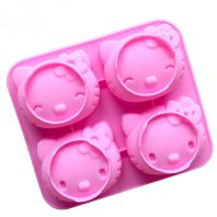 4 Cavities Cartoon Cats Silicone Mould Tray LMH003
